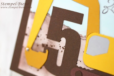 Baggerkarte Kindergeburtstag, Baggerkarte jungs, Baggerkarte 5. geburtstag, Baggergeburtstag, stampin up, stempel-biene