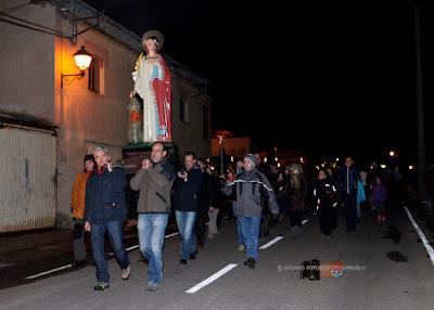 Procesión nocturna de Santa Bárbara (Barruelo, 2013)