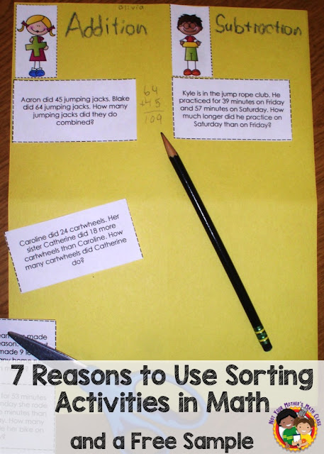 7 Reasons to Use Sorting Activities in Math (and a Free Sample)