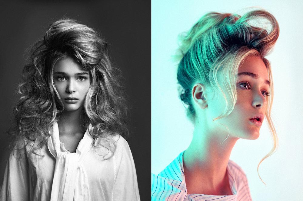 Women Portraits: Change light, change mood.