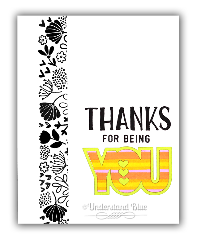 Thanks for being You Card by Understand Blue