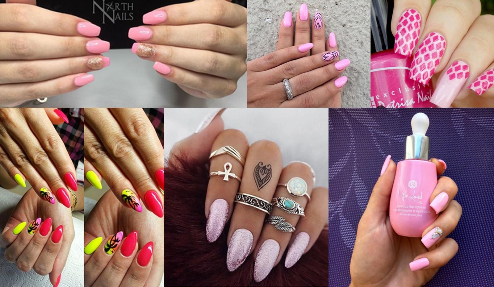 Różowe Paznokcie Zdobienia Paznokci Pink Nails Hit Czy Kit Różowe