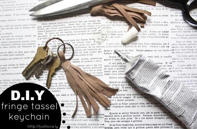 leather fringe keychain