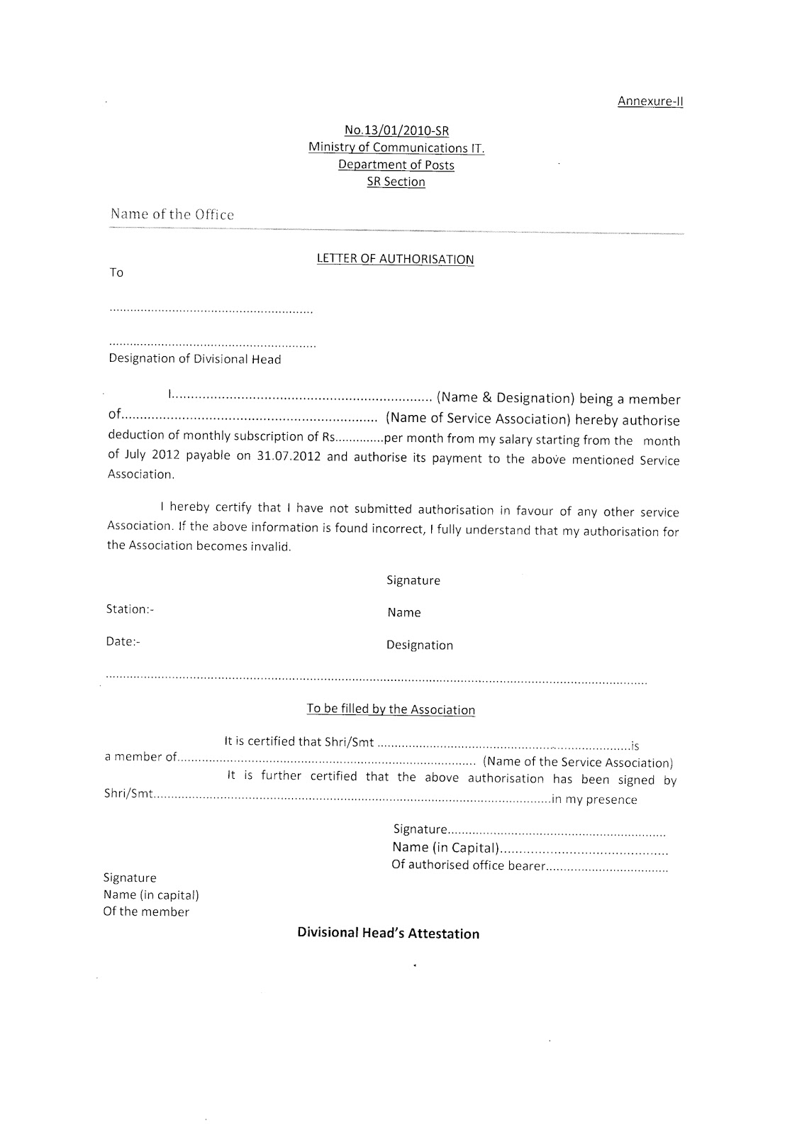 Aipeu P3 Chq Letter Of Authorisation For Addition Of