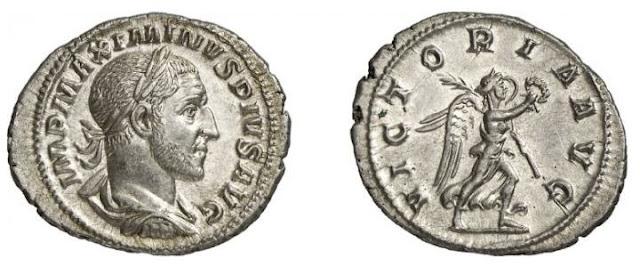 Denario del emperador romano Maximino el Tracio