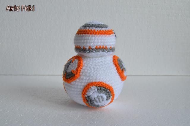 bb8 star wars amigurumi guerra de las galaxias droide crochet ganchillo doll muñeco tejer tejido patron gratis robot