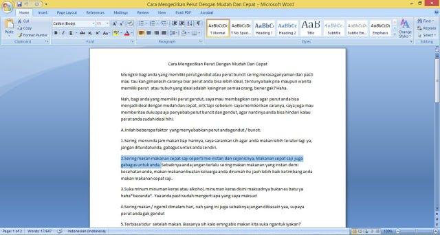 10 Trik Microsoft Word ini Bikin Pekerjaanmu Cepat Selesai dan Pastinya Terlihat Mahir