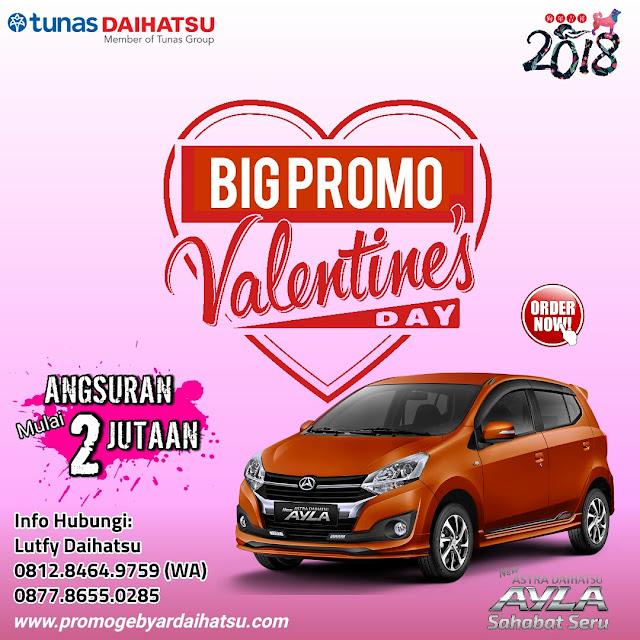 Promo Daihatsu Ayla Spesial Valentine 2018, Angsuran 2 Jutaan