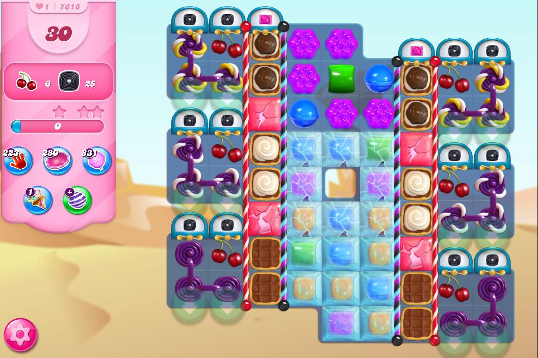 Candy Crush Saga level 7618