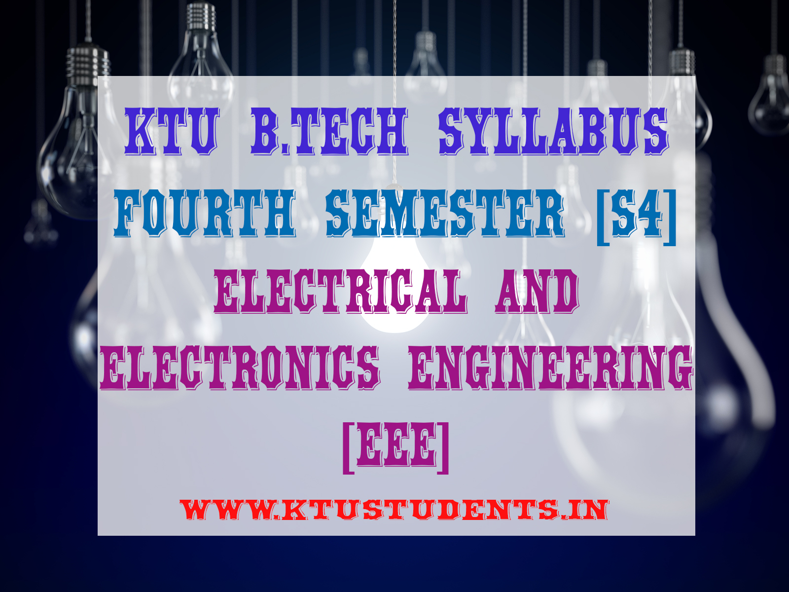 S4 Syllabus Electrical And Electronics Engineering Eee Ktu Students Analog Electronic Circuits Textbook Pdf