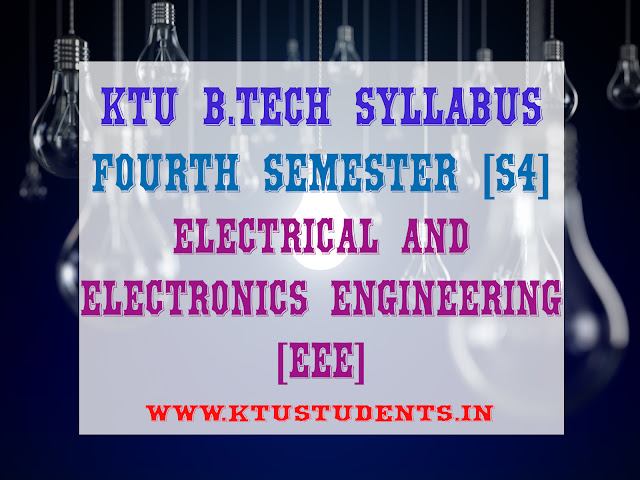 ktu s4 syllabus for eee