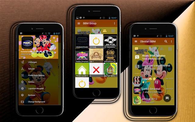 BBM Mickey Mouse Apk v3.1.0.13 Mod Unlimited Money