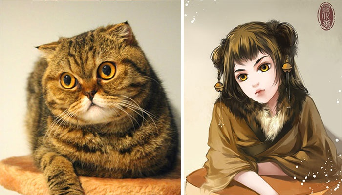 10 Ilustrasi Ketika Kucing Berubah Menjadi Manusia