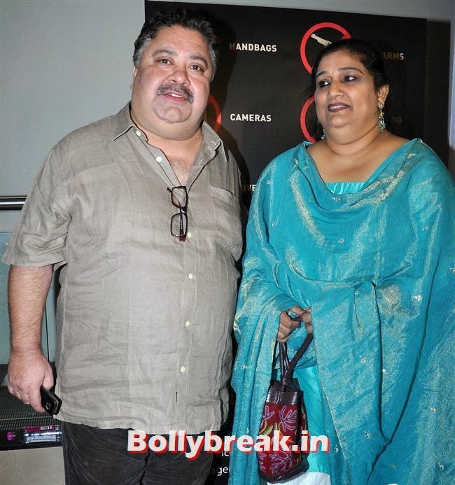 Manoj Pahwa with his wife Seema Pahwa, Ankhon Dekhi Movie Premiere Pics