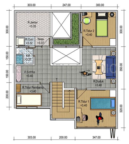 Image result for Denah Rumah Idaman Minimalis