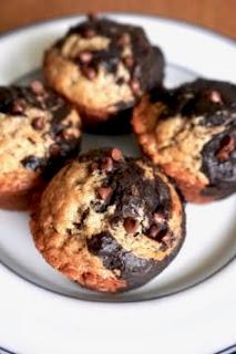 Dark Chocolate Banana Marble Muffins: Savory Sweet and Satisfying
