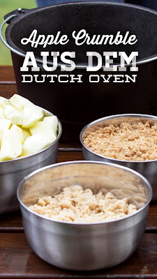 BMA Outdoor Kitchen | Apple Crumble aus dem Dutch Oven | Rezepte für die Outdoor-Küche | Leckerer Apfelauflauf für die nächste Grillfeier