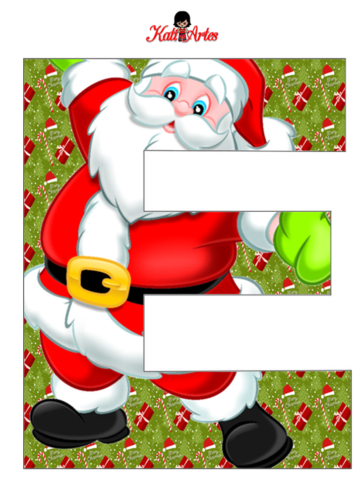 Alfabeto de Papa Noel. - Oh my Alfabetos!