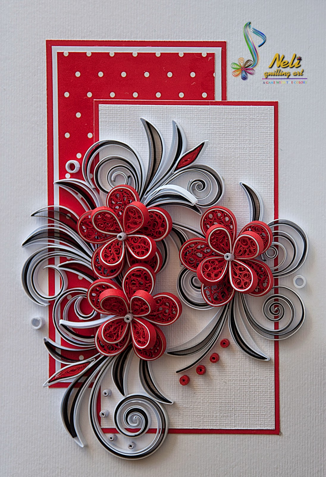 neli quilling art quilling card 14 8 cm 10 5 cm. Black Bedroom Furniture Sets. Home Design Ideas