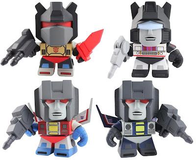 Transformers Mini Figure Series 1 by The Loyal Subjects - Grimlock, Jazz, Starscream & Thundercracker