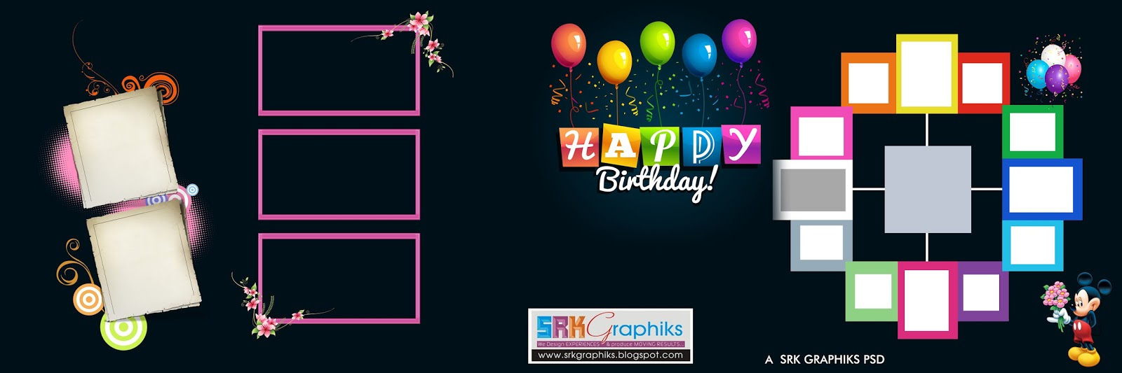 PSD 12 36 Karizma Birthday Album Templates Free download SRK – Photo Album Templates Free