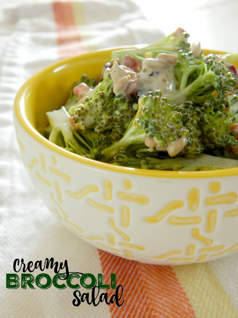 Creamy Broccoli Salad...with a sweet crunch in a creamy dressing this is the perfect summer side dish! (sweetandsavoryfood.com)