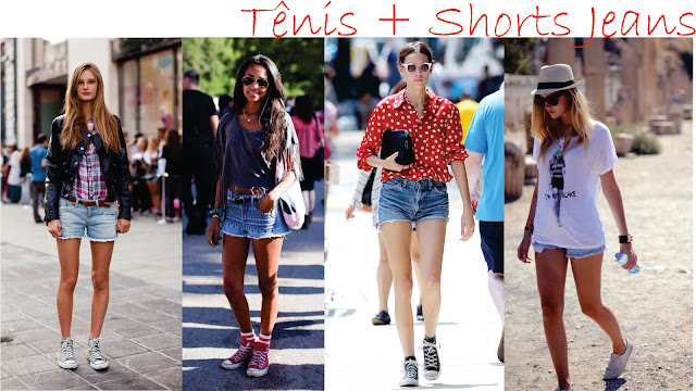 look com shorts e tenis