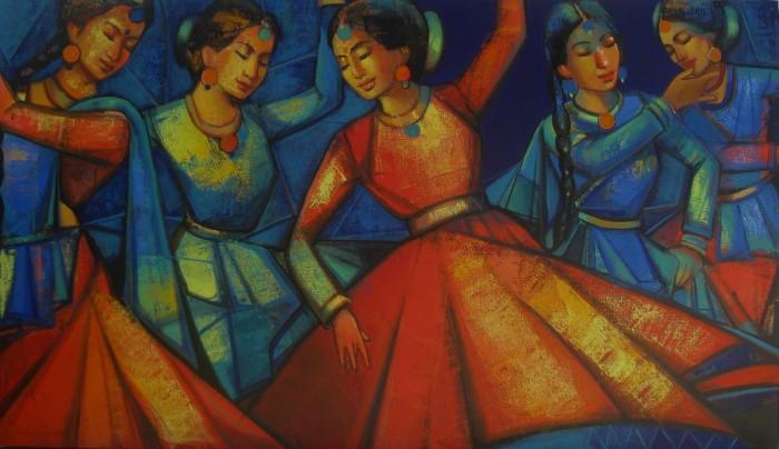 Индийский художник. Anindya Mukherjee 3