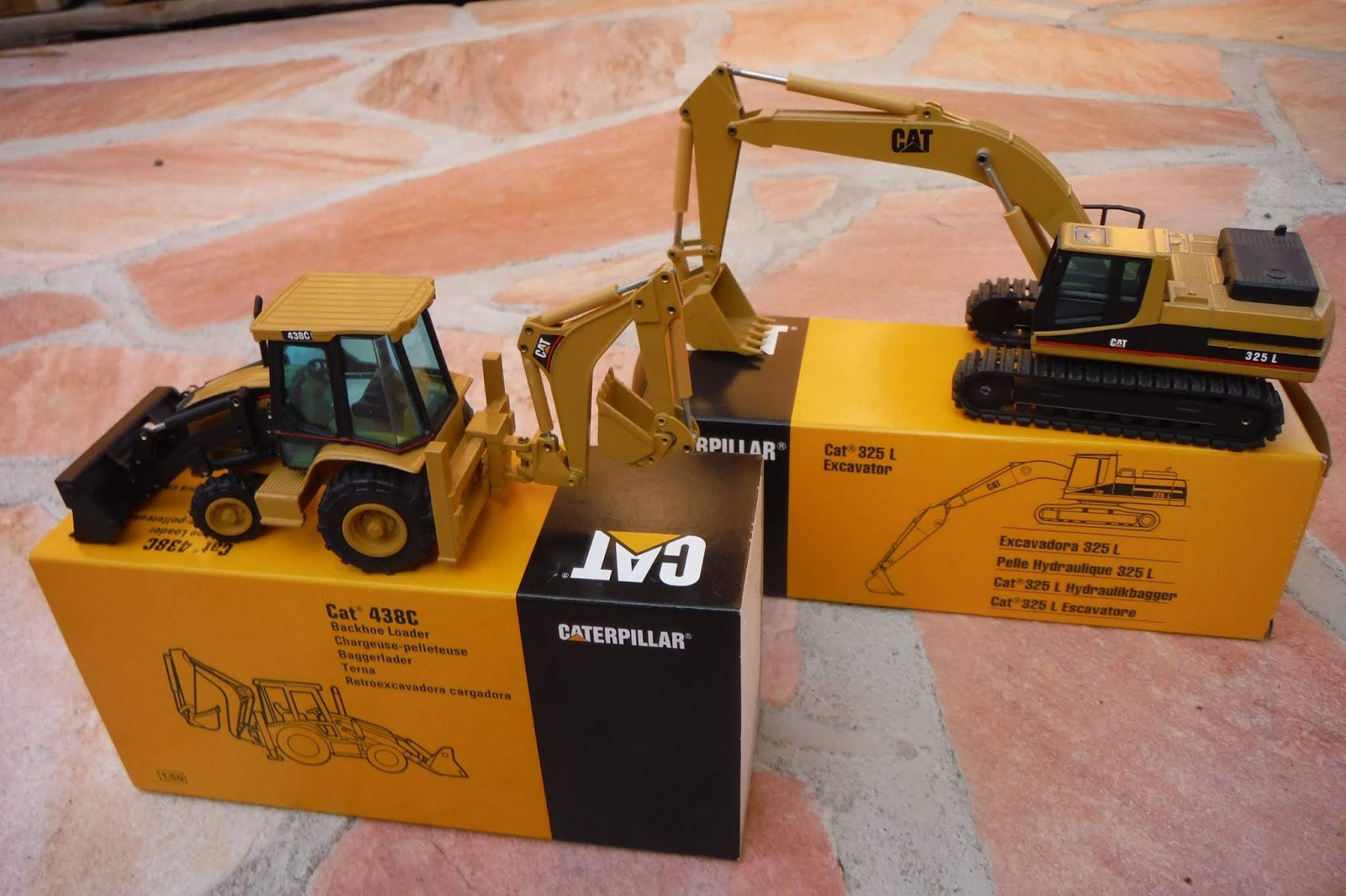 We send it to any place in the world and we would publish the winners on our blog there is a caterpillar 438c and a cat 325l