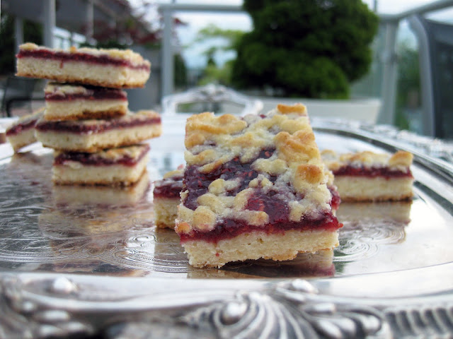 this raspberry shortbread bar is a delicious cookie to have on hand