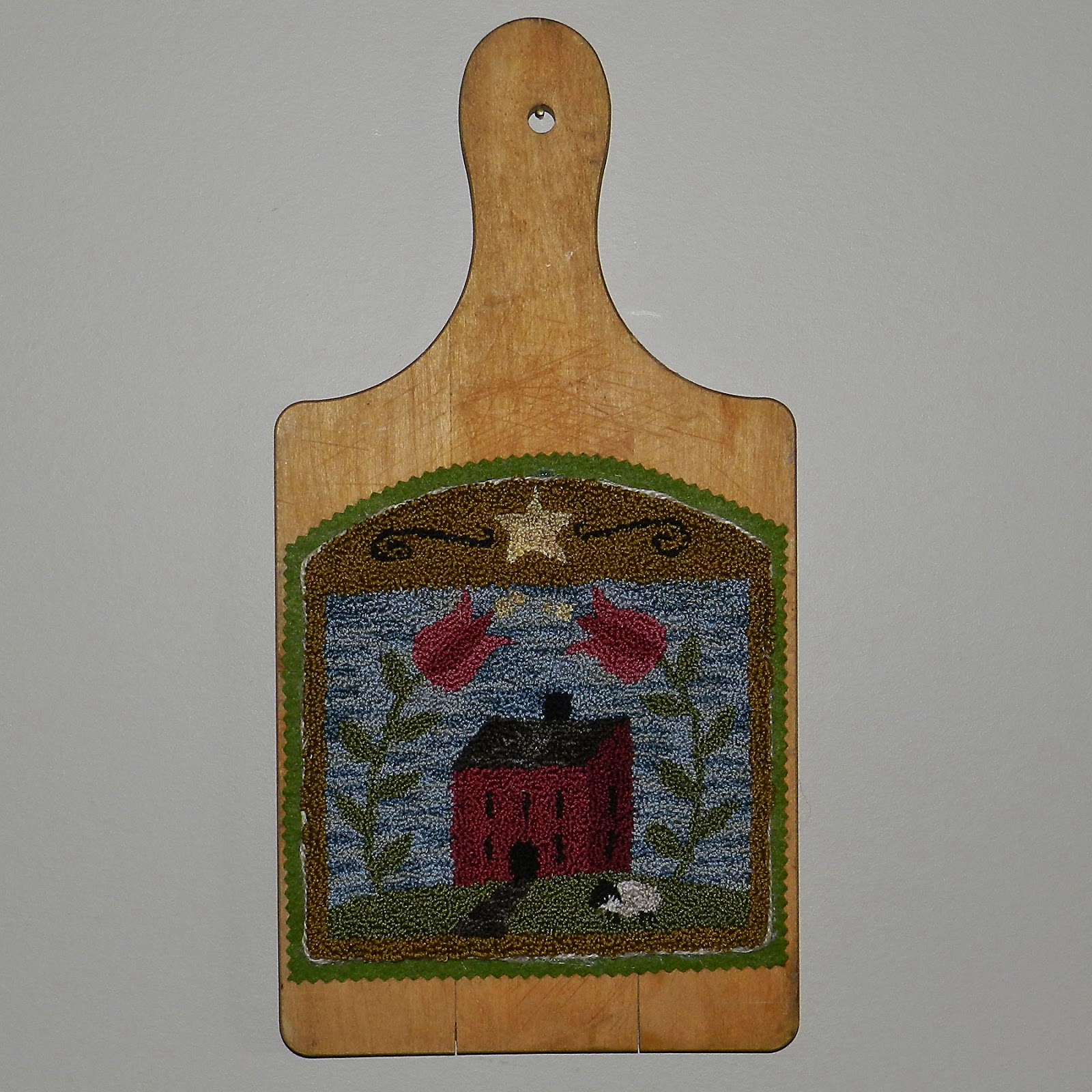 http://www.ebay.com/itm/Primitive-OOAK-Punch-Needle-Mounted-on-Breadboard-House-Lamb-The-Olde-Saltbox-/271836962316?ssPageName=STRK:MESE:IT