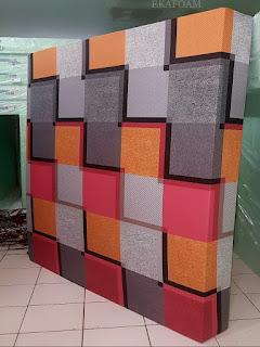 Kasur inoac motif minimalis cavali orange