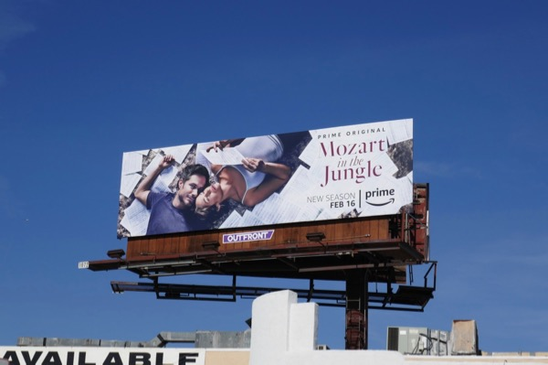 Mozart in Jungle season 4 billboard