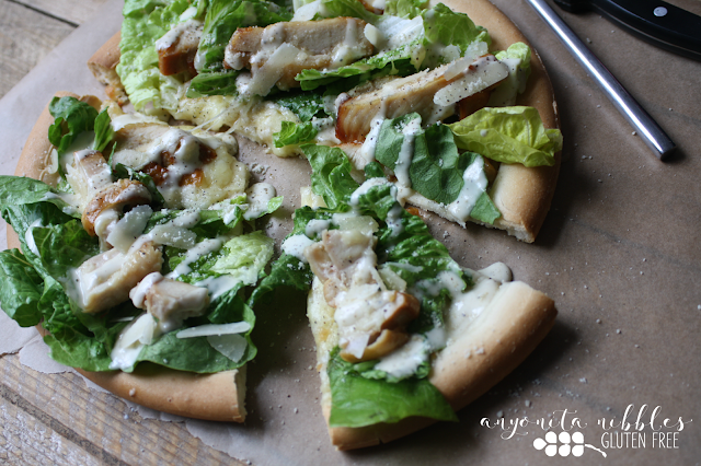 The most indulgent pizza topped with fresh salad | Anyonita-Nibbles.co.uk