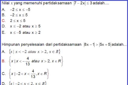 Soal PAS SMA Kelas X Matematik Wajib Semester Ganjil