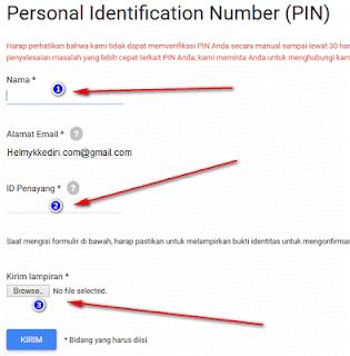 Verifikasi PIN google adsense dengan KTP6