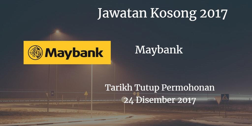 Jawatan Kosong Maybak 24 Disember 2017