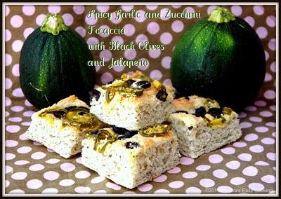 Spicy Garlic and Zucchini Focaccia
