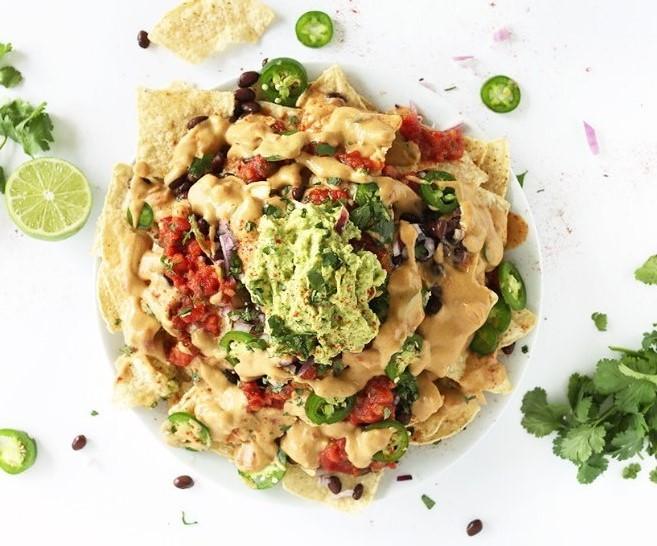 The Best Damn Vegan Nachos #mexicanfood #vegetarian