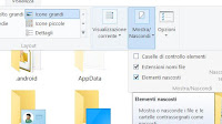 Come trovare file nascosti in Windows 7, 8, 10