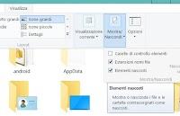 Come trovare file nascosti in Windows 7, 8, 10