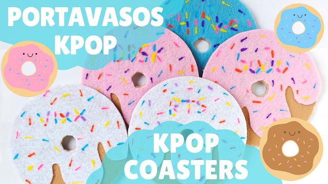 KooriStyle, Koori Style, Kpop, Kpop DIY, DIY, Tutorial, How yo, Como hacer, BTS, VIXX, SHINee, DBSK, TVXQ, Super Junior, SuJu, Portavasos, Coasters, Felt, Cute, Kawaii, CD, DVD, Easy, Facil, Manualidades, Crafts, Donut, Dona