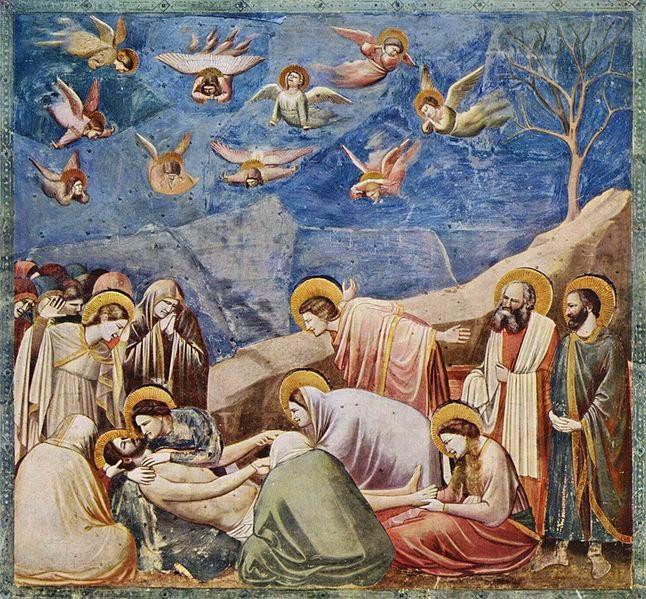 Lamentação - Giotto di Bondone e suas pinturas ~ Primeiro a introduzi a perspectiva na pintura
