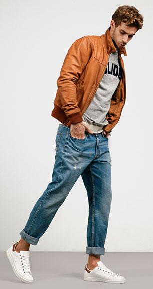 Stradivarius chaqueta pantalón camiseta hombre