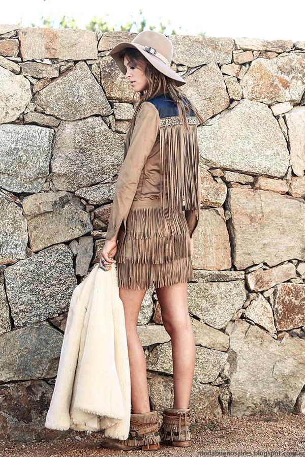 Tendencias de moda invierno 2016: Flecos en look Tucci invierno 2016.