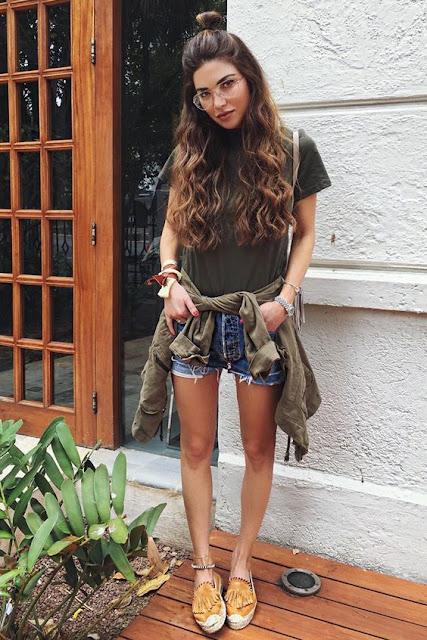 short jeans ideias de looks