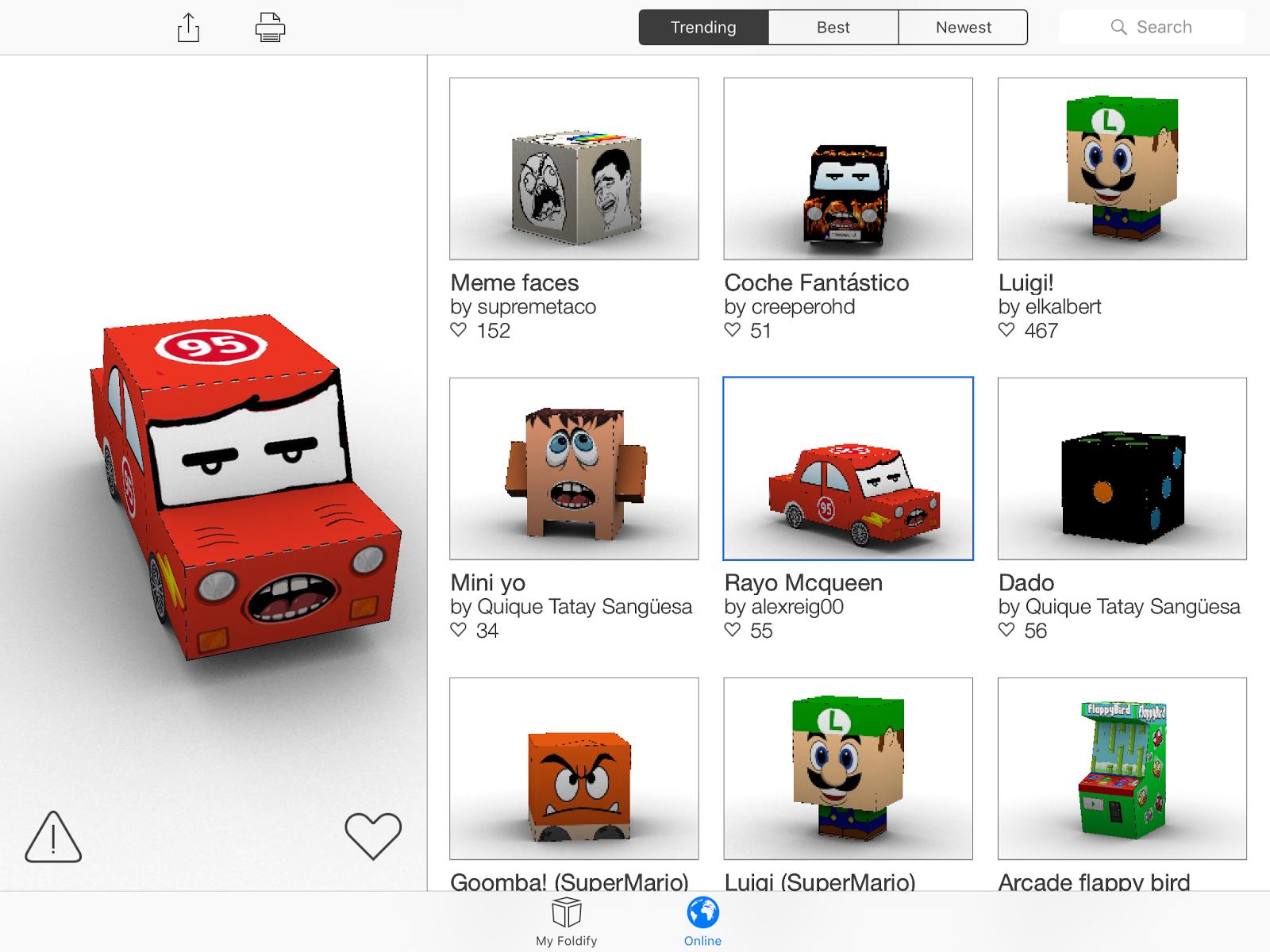 Creando figuras en 3D con Foldify.