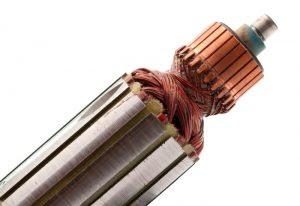 Instalaciones eléctricas residenciales - Rotor con hilos de cobre