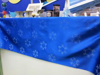 結晶模様を印刷したテーブルクロスの事例写真