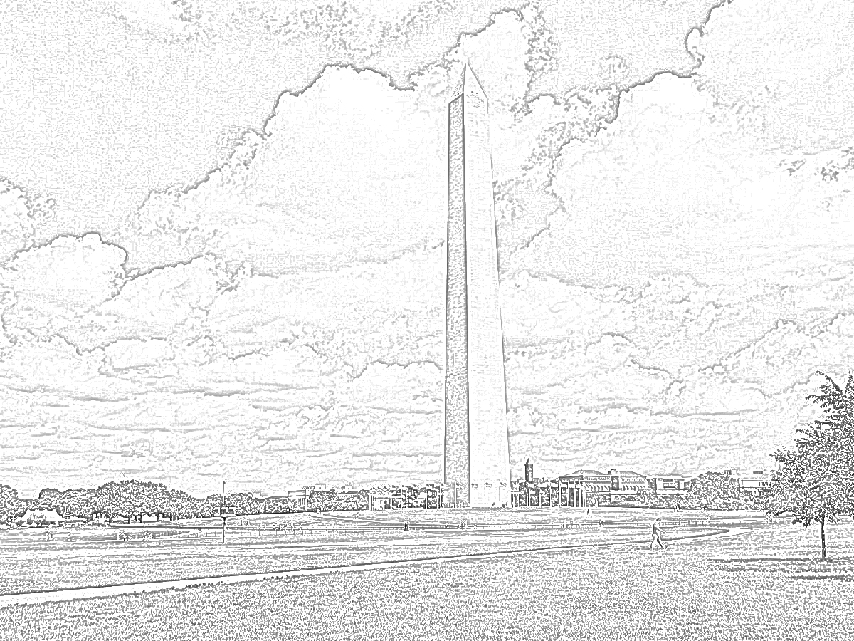 31 Washington Monument Coloring Pages